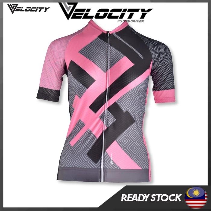 [READY STOCK]Velocity Lady Short Cycling Jersey-Pink Light