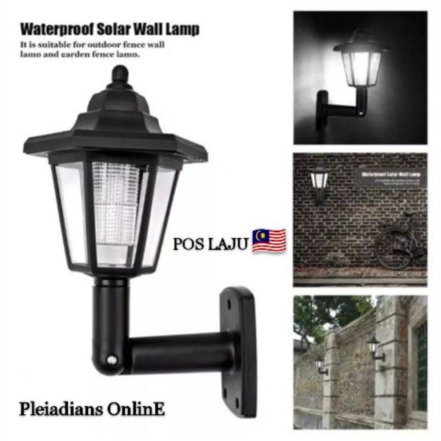 Ready Stock Vintage Solar Led Wall, Solar Outdoor Lamp Malaysia