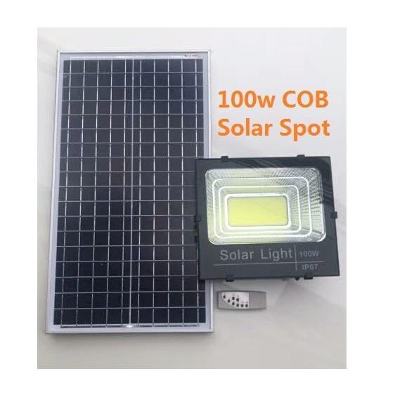 [ READY STOCK ]  Very Quality Solar Power Flood Light 40w 60w 100w COB Waterproof Lamp Pelita Lampu Raya Jualan Murah Led