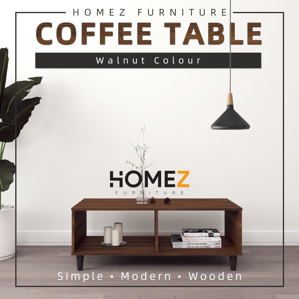 Homez Coffee Table SACT1623-5 Modernist Design Solid Board 101 x 48 cm - Walnut Brown