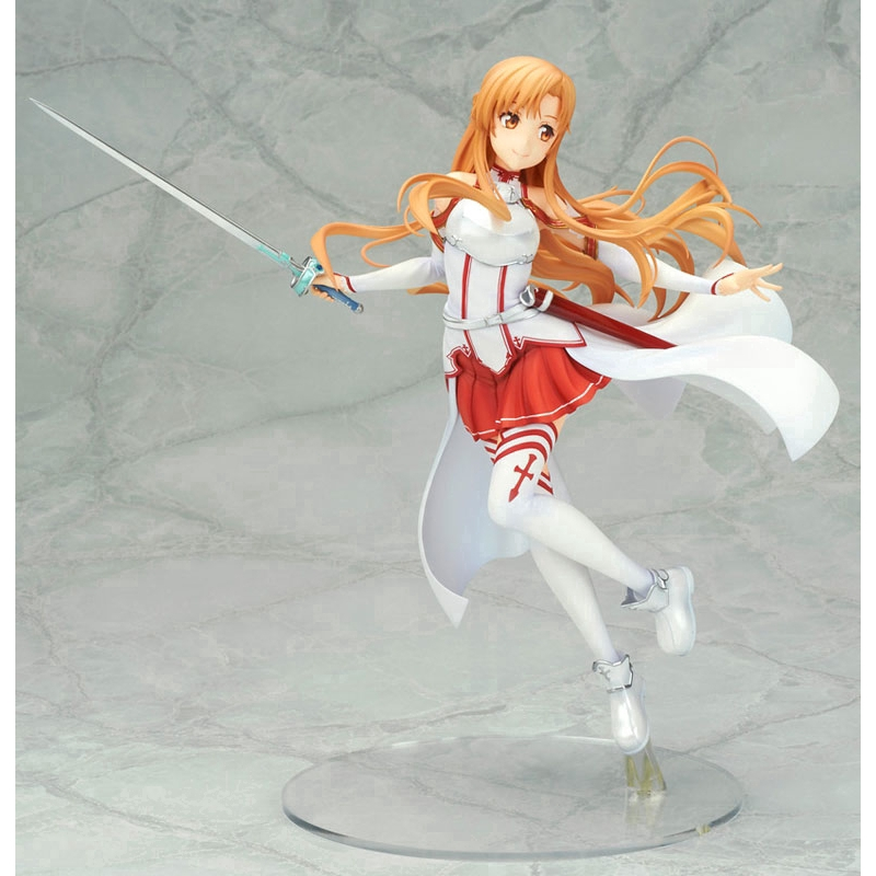 Anime Sword Art Online Yuuki Asuna Swimsuit Ver Action Figure Steel Pipe Dolls Model Toy Decoration Figurine Toys & Hobbies