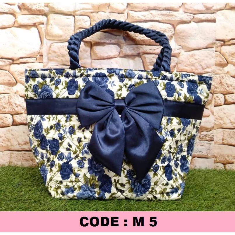 ORIGINAL InBloom M Size Floral Series Women Shoulder Bag (Naraya Style) M5 Blue