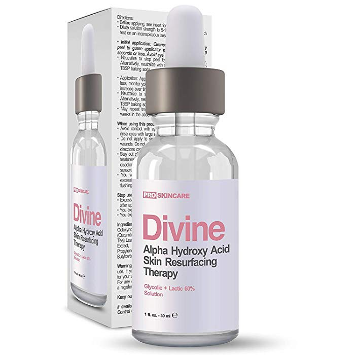 Divine Derriere 60% Glycolic Acid and Lactic Acid Chemical Peel Anti Aging  1 oz