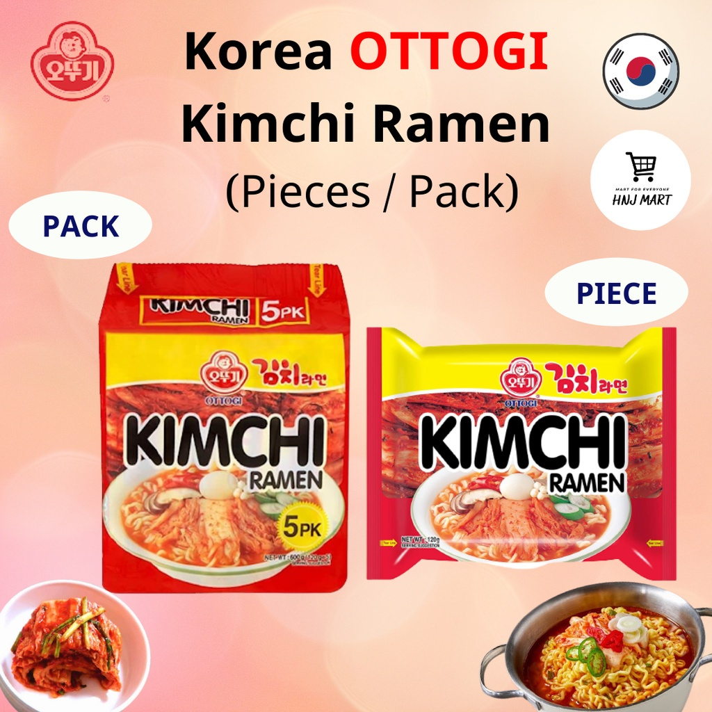 (Made in Korea) Ottogi Kimchi Ramen Kimchi Ramyun Kimchi Noodle 韩国不倒翁泡菜拉面  [1PIECE / 1PACK (5pcs)]