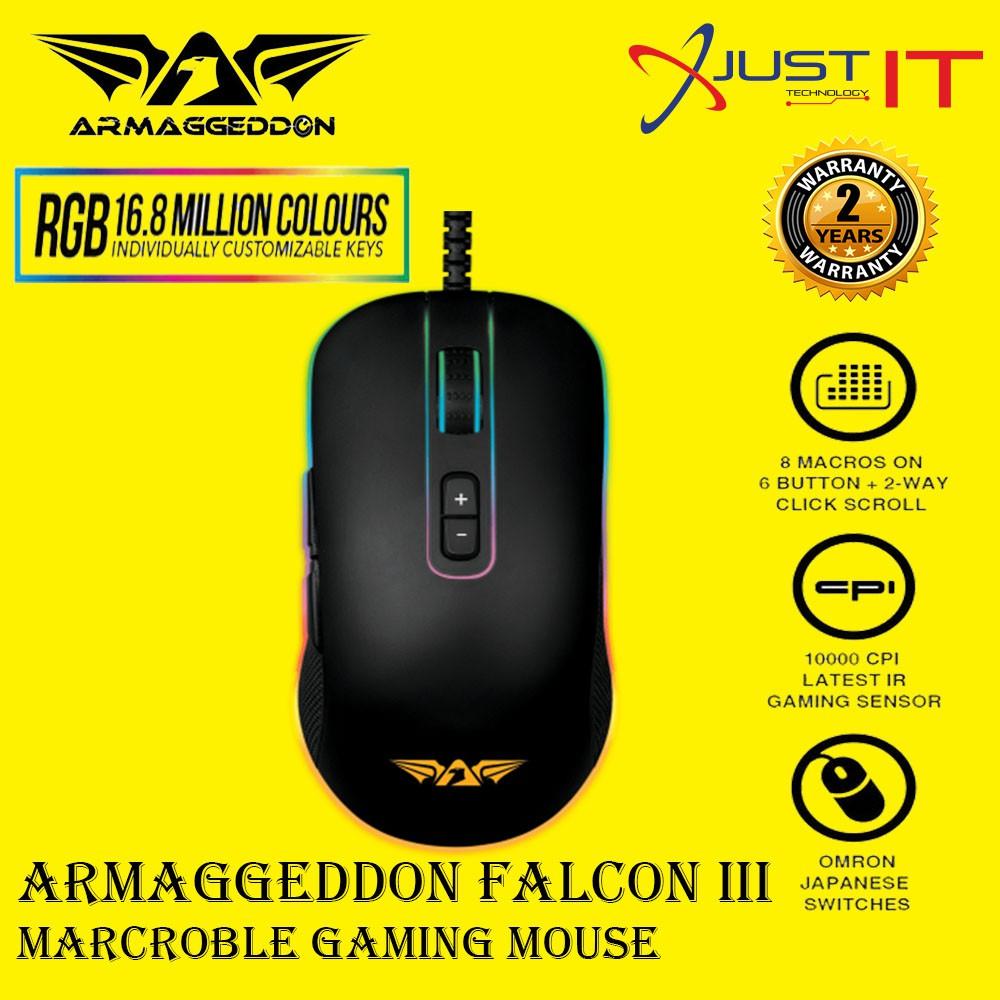 ARMAGGEDDON FALCON III RGB GAMING MOUSE