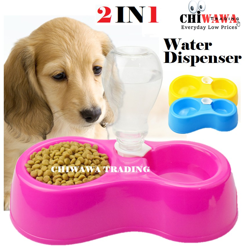 【2 IN 1】Automatic Water Dispenser Fountain Feeder Food Dish Bowl Utensil Cat Dog