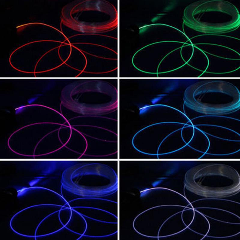 Side Glow Fiber Optic Cable 1M 1 5/2/3/4mm For Car Light Decoration