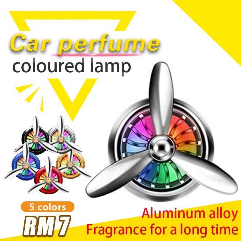 Car Perfume Car Air Purifier Air Force 2 Air Vent Perfume with led light