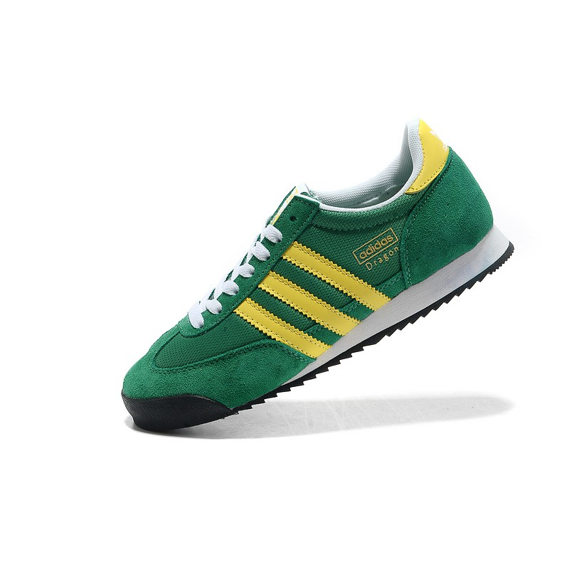 adidas dragon g50919 suede green yellow | Shopee Malaysia