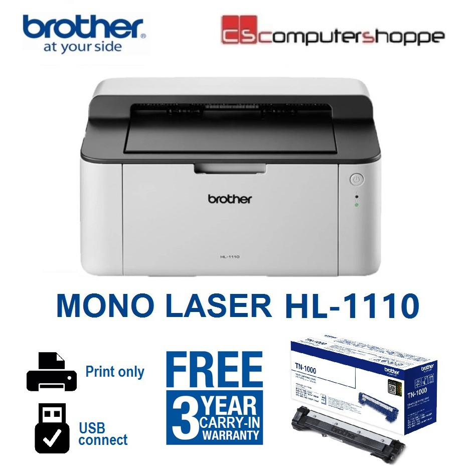 Højmoderne Brother Mono Laser HL-1110 | Shopee Malaysia OS-83