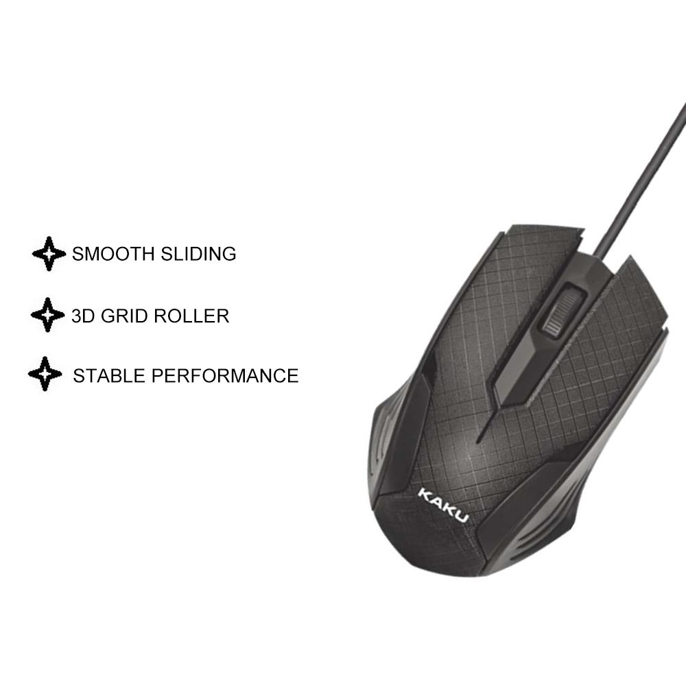 IKAKU KAKU LANGSI USB Wired Mouse Smooth Triple Bond Photoelectricity No Delay Fast Sensitive Pro Gaming Windows Laptop
