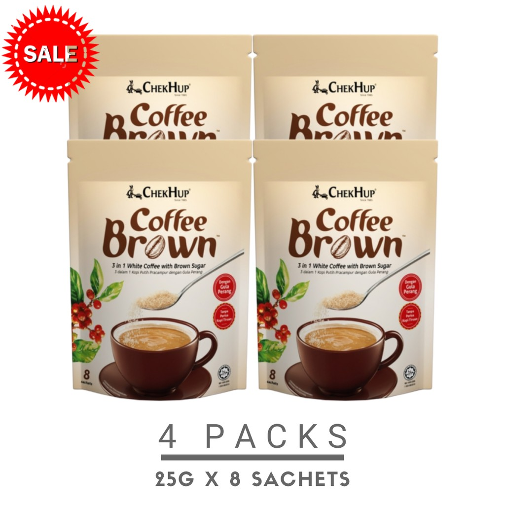 Chek Hup Coffee Brown (25g x 8s) [Bundle Of 4 Pkts]