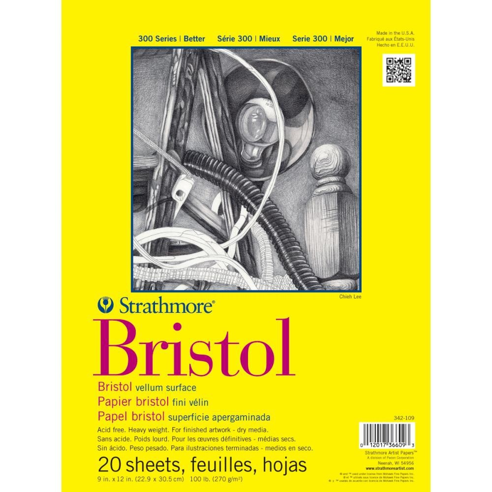 i.d 14x17 art supply Bristol Vellum Pad