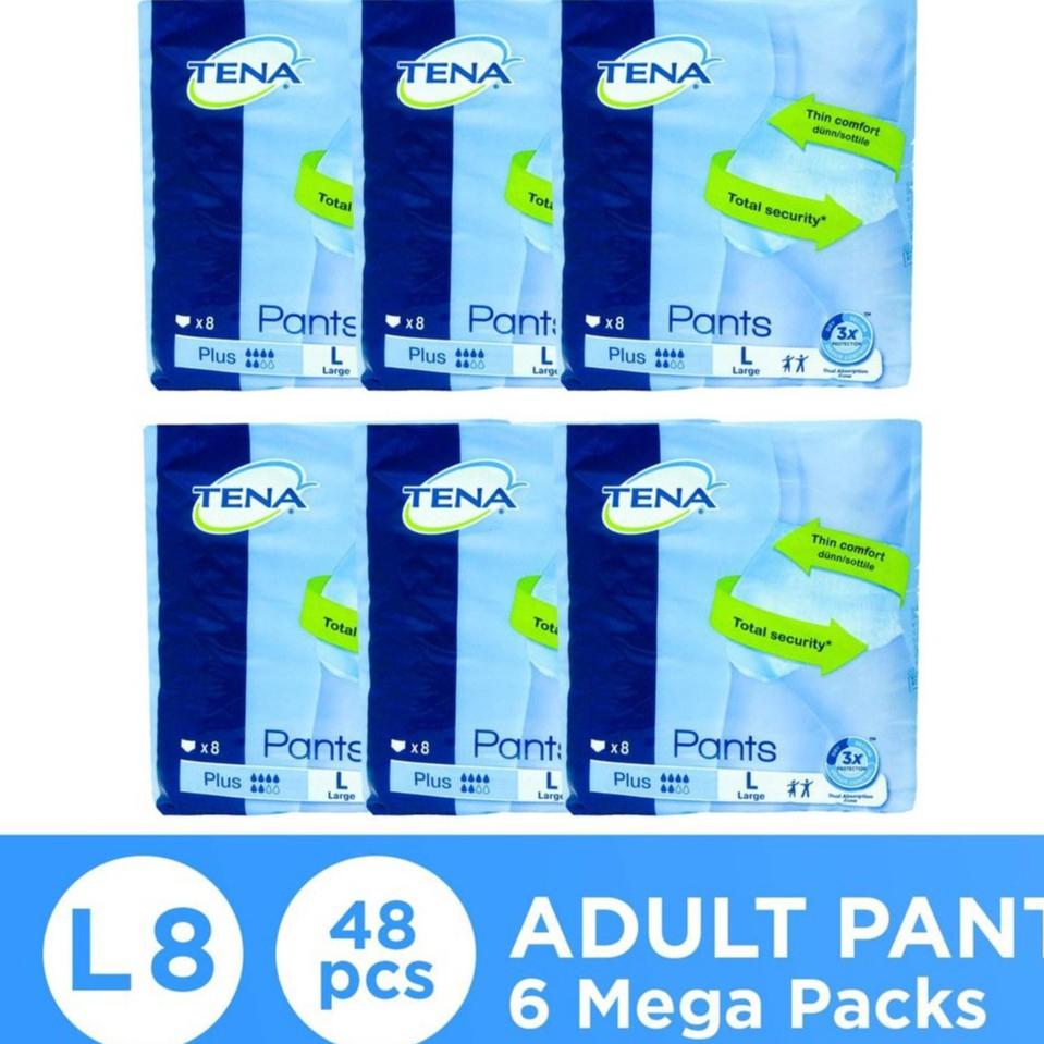 Tena Pants Plus Adult Diaper L8 x 6 packs (48s total)