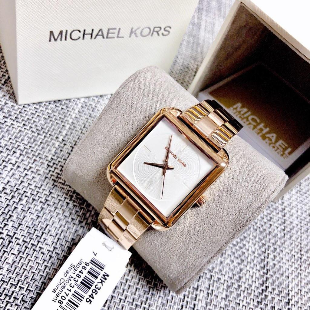 Original new Michael Kors MK 3645 women's rose gold square watch 37*6.5mm