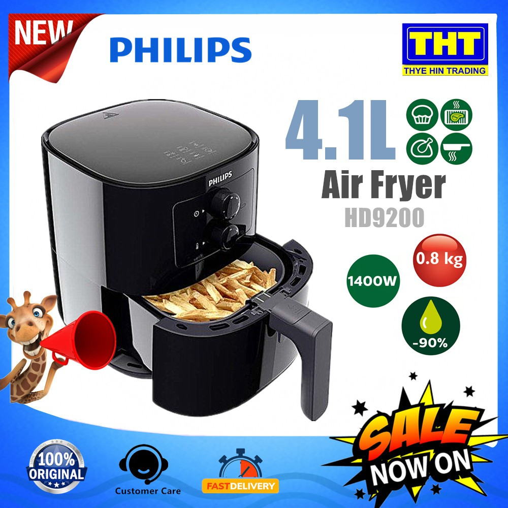 PHILIPS HD9200 AIR FRYER WITH RAPID AIR TECHNOLOGY 4.1L/ 0.8KG