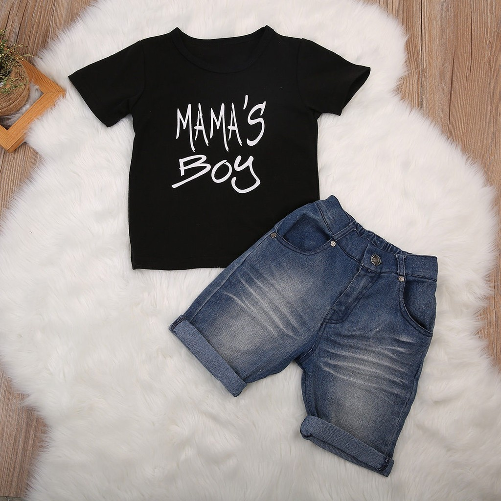 f58f18a44 Kimocat Children's Clothing Set Baby Boy's Shirt And Pants   Shopee Malaysia