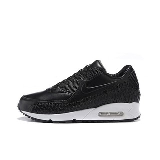 finest selection fda7c 55cae ... Mens Nike Air Max 90 Woven Running Shoes Black Black-White 833129-001.  like  0