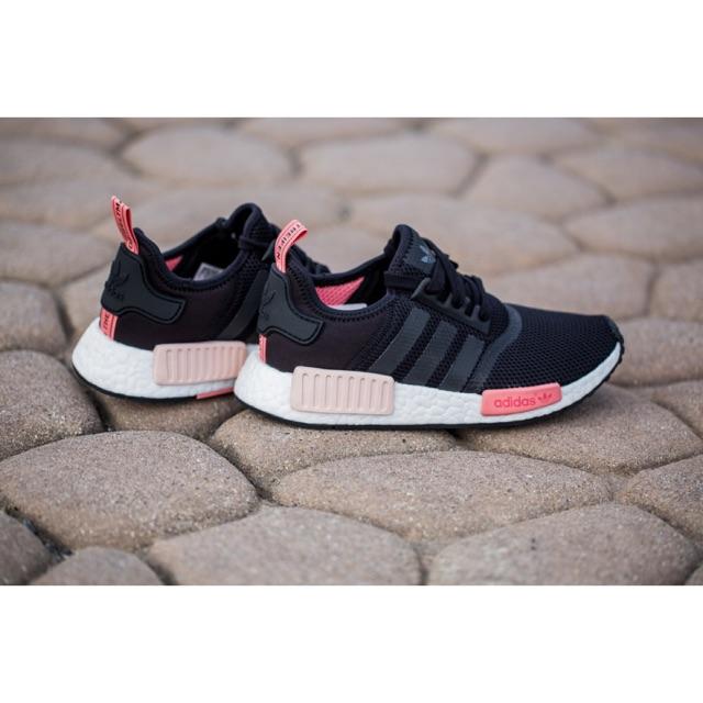 2475fcc56c536 Adidas NMD R1  Black Peach Pink