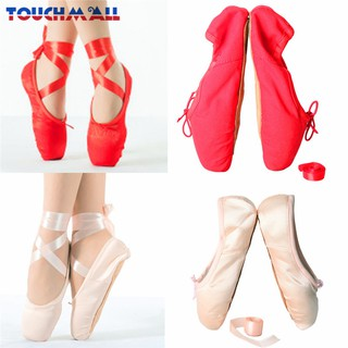be2701280622c TM Girls Pink Ballet Dance Shoes Split Sole with Satin Slippers ...