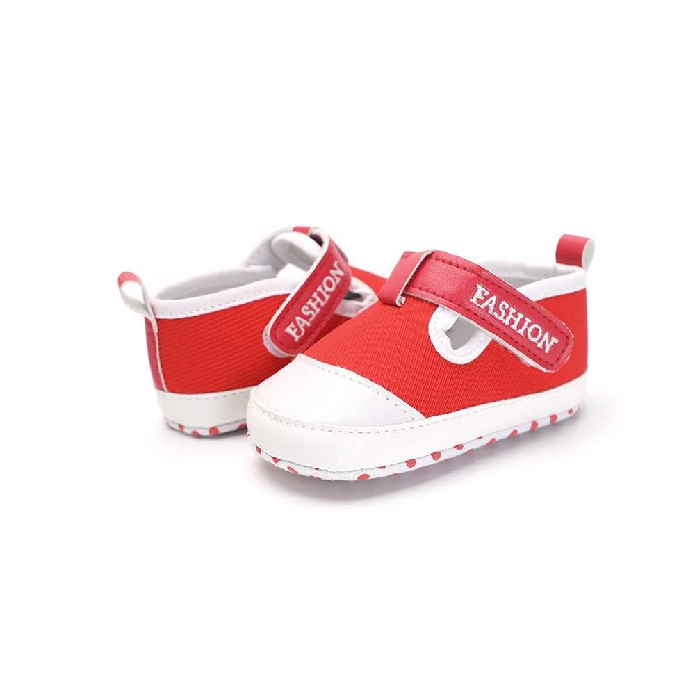 Infant Toddler Baby Casual Shoes Cotton Soft Sole Non-Slip Sneaker Prewalker Red 6M (Red)