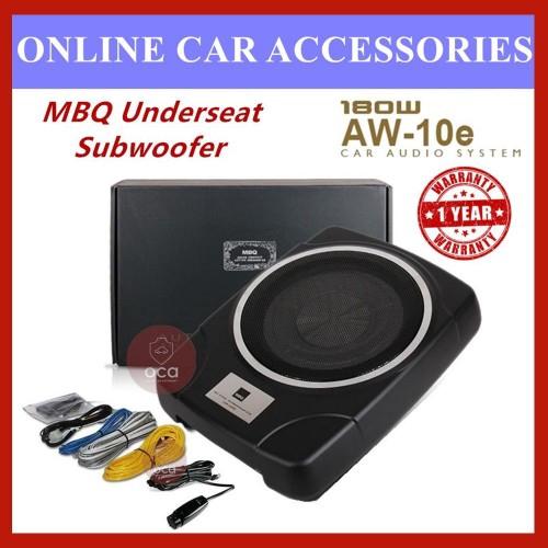"MBQ Car Underseat 10"" Subwoofer built-in Power Amplifier-(AW-10E)"