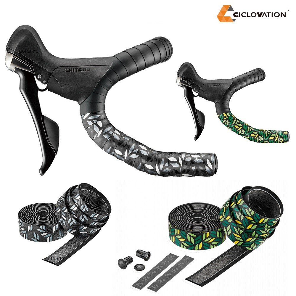 Ciclovation Premium Bar Tape w// Leather Touch 2.5mm Chameleon Green Bike New