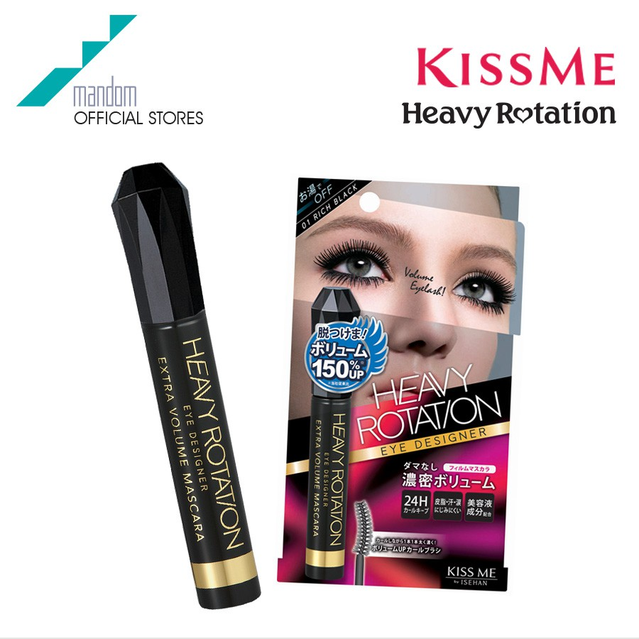 Kiss Me Heavy Rotation Eye Designer Extra Volume Mascara #01 Rich Black
