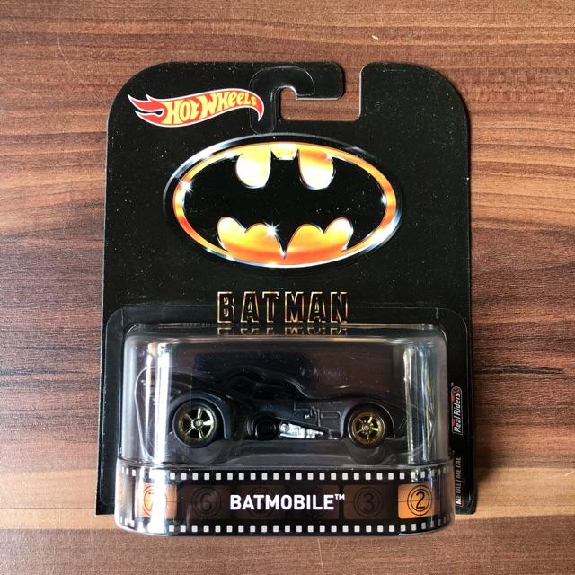 Justice League Batmobile 2019 Hot Wheels Retro Entertainment Batman Case L
