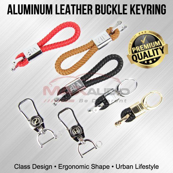 [FREE Gift] Premium Leather Stainless Aluminum Belt Buckle Car Vehicle Key Remote Keychain Keyring