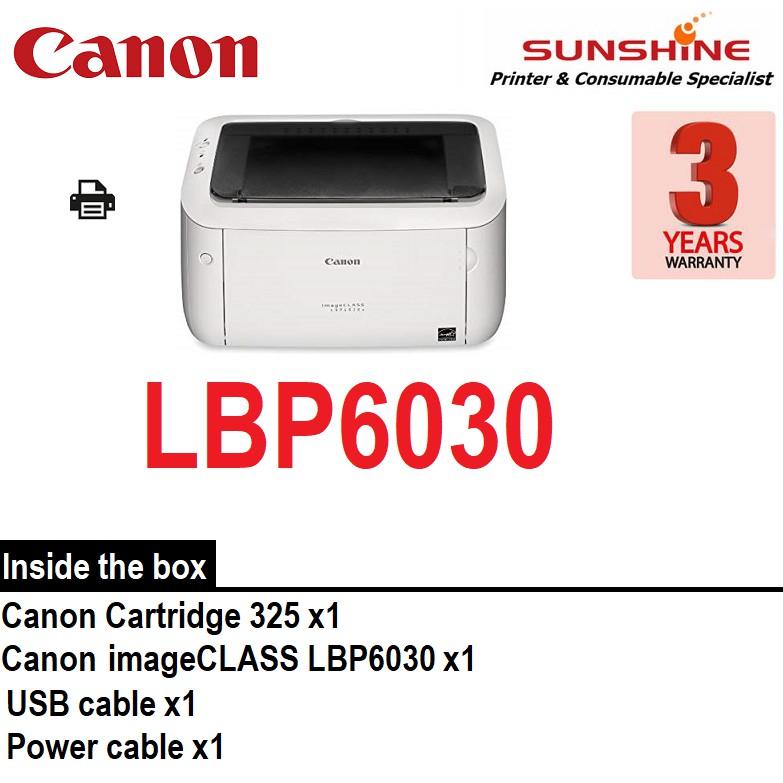 Canon imageCLASS LBP6030 Monochrome Laser Printer (m12a m15a hl1110)