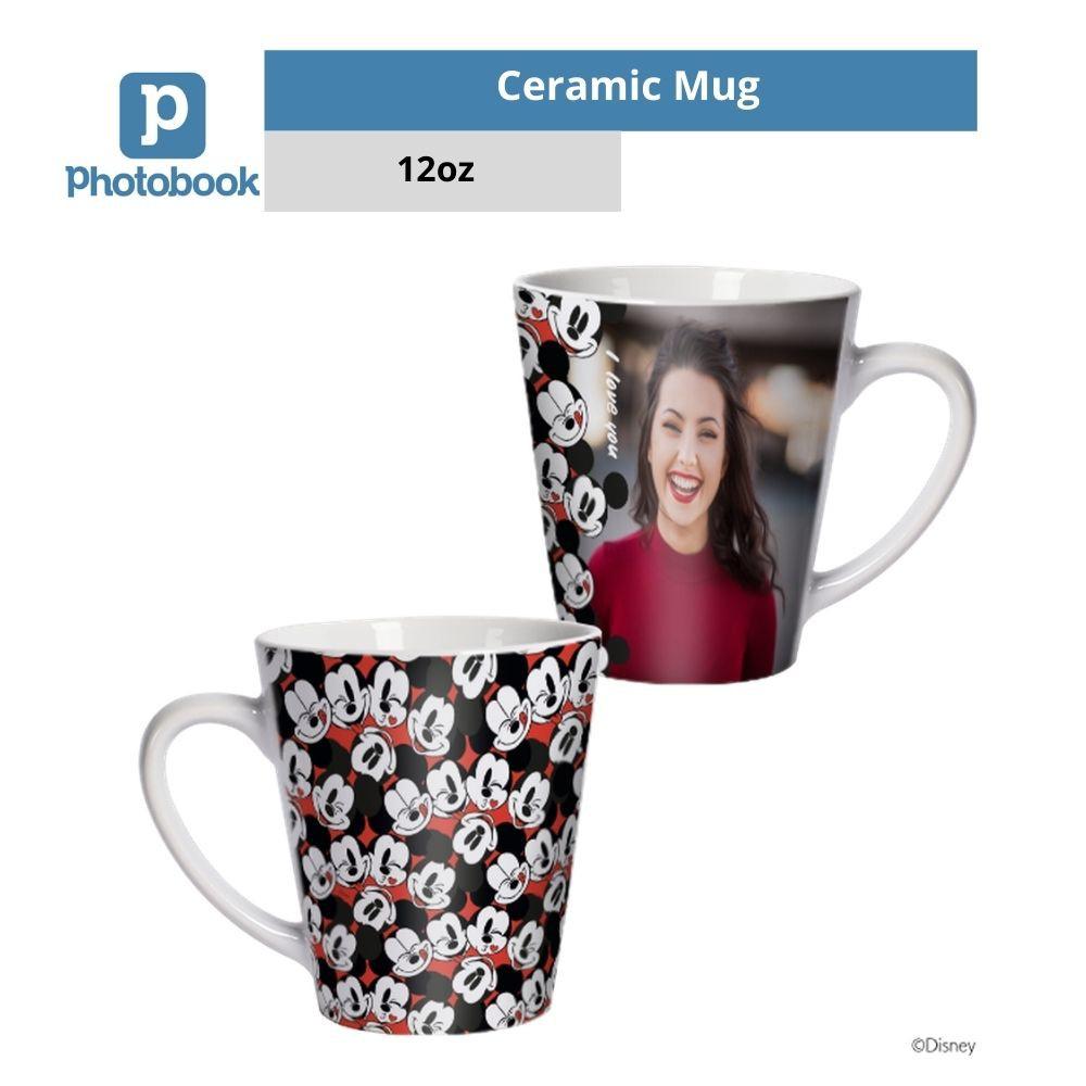 Photobook Personalized Disney Mickey Mouse 12oz Latte Mug