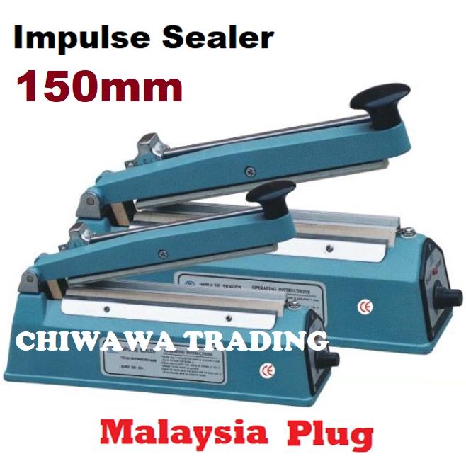 【Malaysia Plug】Impulse Sealer 150mm 200mm 300mm Film Plastic Poly Bag Seal / Mesin Pengedap 1