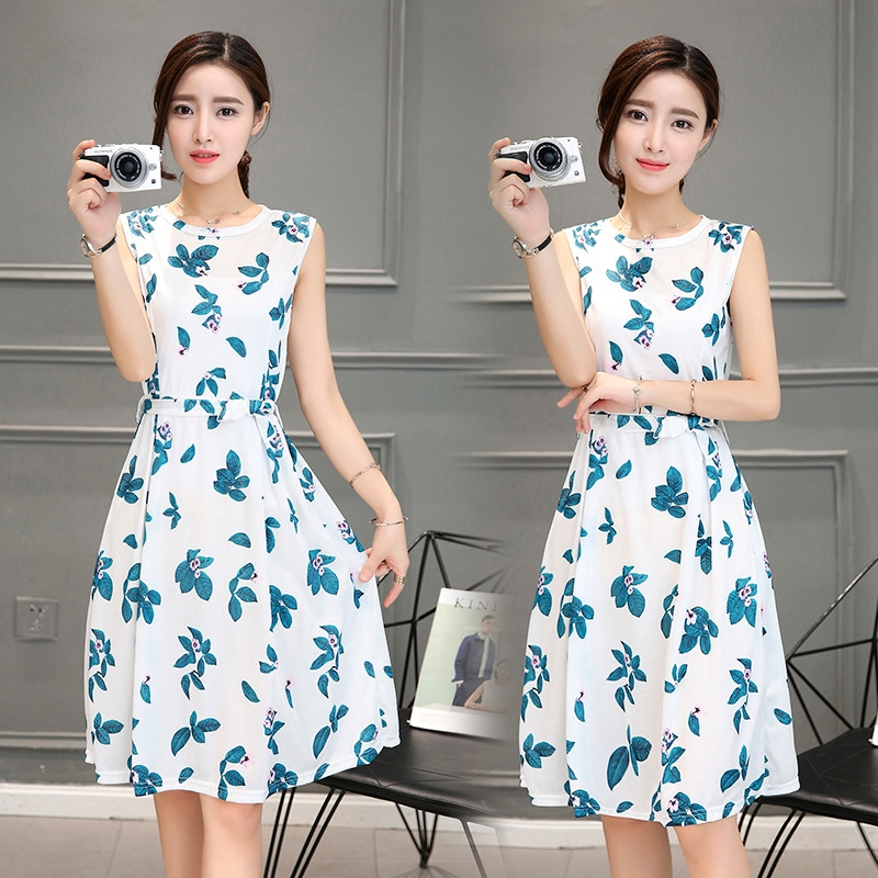 New Pakaian Anak Perempuan Floral Rok Party Casual Midi Dress Korean Fashion