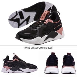 9e66a23a31a prague parisstreet outfits puma rs-x black pink dad shoes   Shopee ...