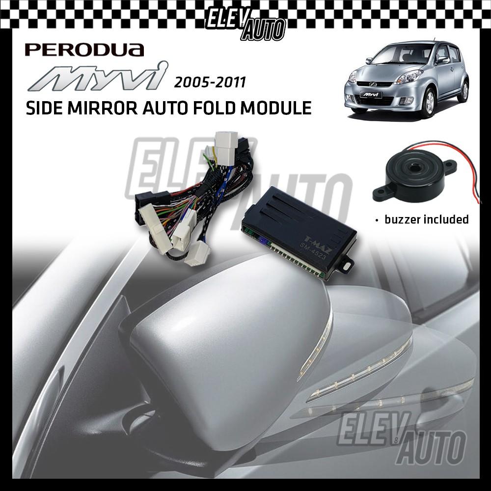 Side Mirror Auto Fold with Buzzer Perodua Myvi Passo 2005-2011