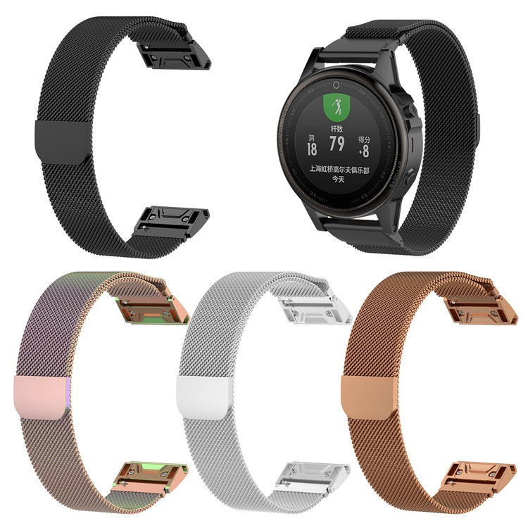 Garmin Fenix 5 5s 5x Plus Watchband Milanese Magnetic Watch Band