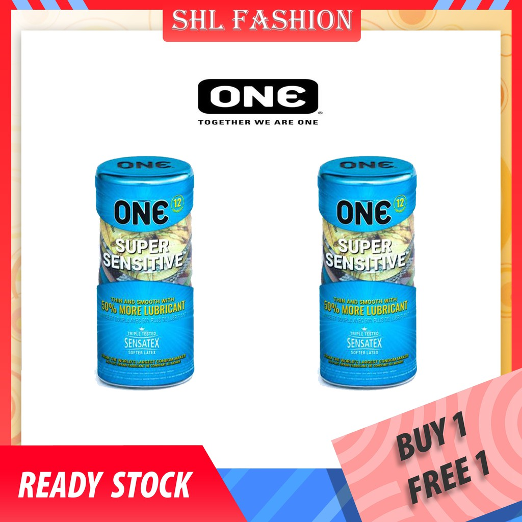 ONE Condoms 12's + 12's Kondom + Free Gift-Mixed Pleasures / Super Studs / Sensitive / True Fit / Zerothin] 安全套 避