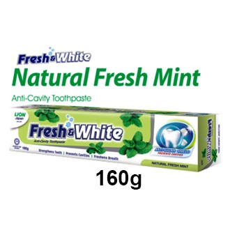 160g Fresh And White Natural Fresh Mint Toothpaste 160g