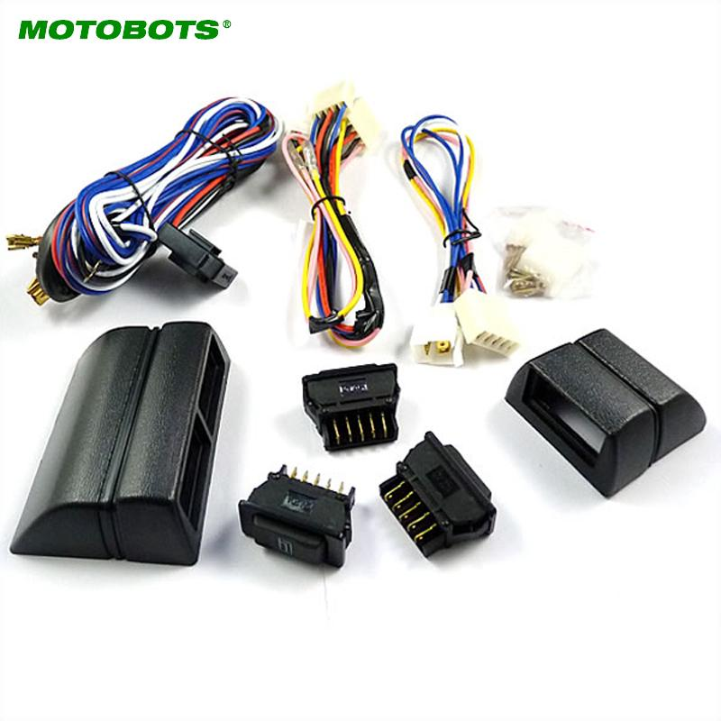 Universal power window 3pcs switches with Holder and wire Harness on