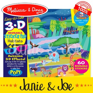 Melissa Doug Habitats 3d Reusable Sticker Pad