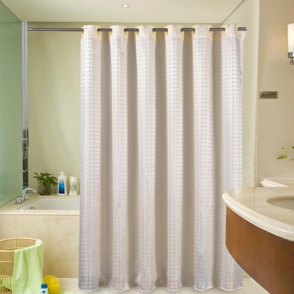 Jarlhome Jarlbc039 Jacquard Lattice Shower Curtain Hotel Waterproof Hanging Cloth Shower Curtain Customizable Bathroom