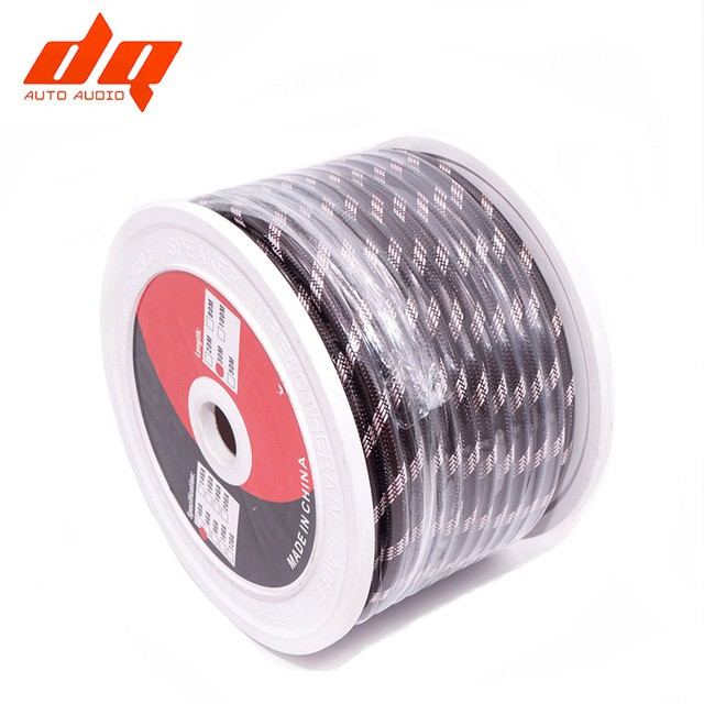 6Ga Pure Copper Power Cable OFC Woven Tin Plating Car Subwoofer Audio Cable