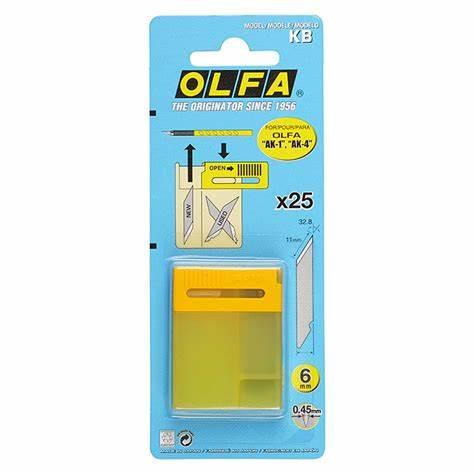 GEMS OLFA AK 1 PEN KNIFE REFILLS 25 PCS