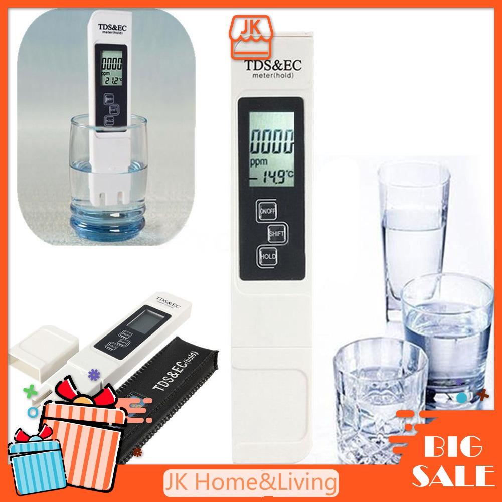 Digital TDS EC Meter Tester Aquarium Pool Hydroponic Water LCD Pen Monitor
