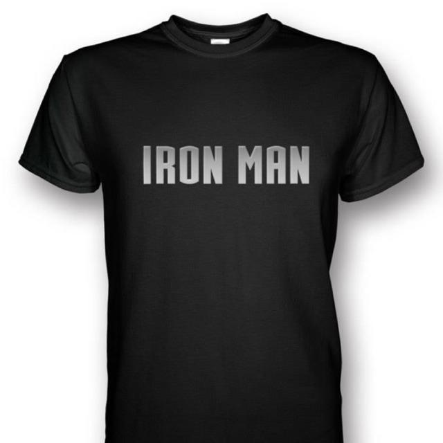 36b0d6b9 Iron Man Black T-shirt Silver Print | Shopee Malaysia