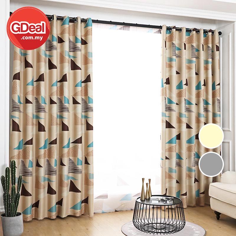 GDeal【Thick Curtains】Langsir Tebal Home Blackout Anti Light Heat Insulation Curtain Langsir 100cmx130cm