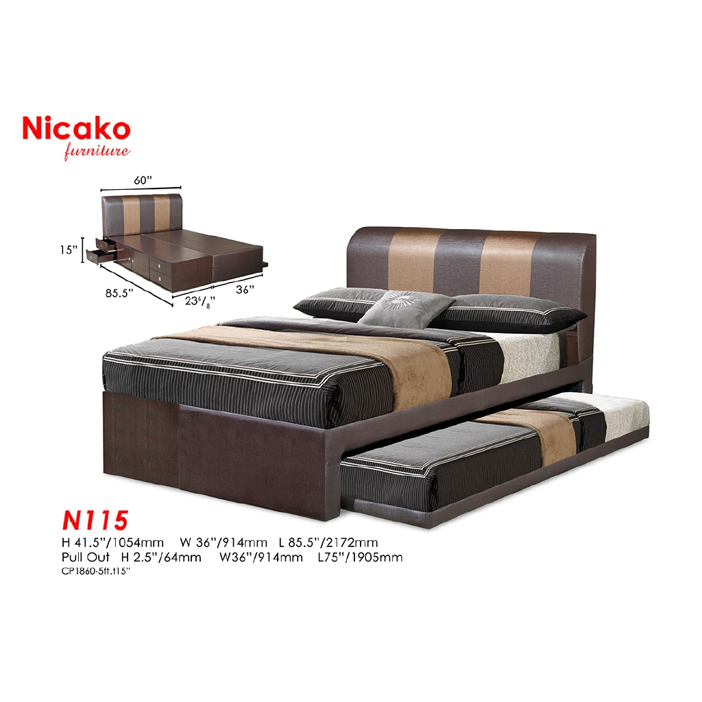 Image of: N 115 Nicako Bed Frame Katil Headboard Queen Size King Size Penang Nearest Shopee Malaysia