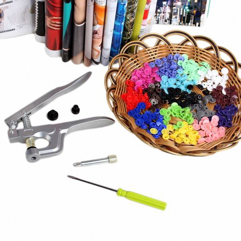 Complete Kit KAM Snaps T5T8 Press Poppers Resin Snaps Fasteners + Pliers  Set New