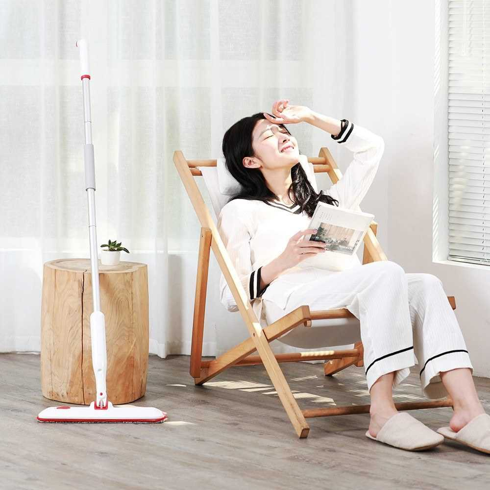 Xiaomi Yijie Water Spray Mop 360 Degree Universal Rotating Home Cleaning Tools Water Spray Sweep